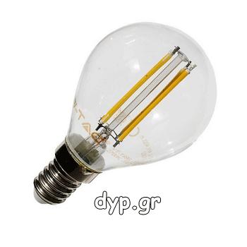 Λάμπα LED E14 Filament Διακοσμητική-retro-vintage (4300}