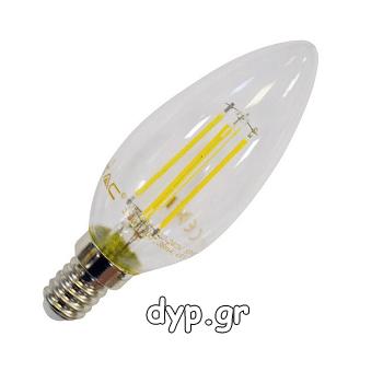 Λάμπα LED – 4W Filament E14 Candle 2700K(4301)