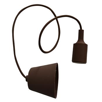 Κρεμαστό Φωτιστικό V-TAC Καφέ απο Πλαστικό και Σιλικόνη και ντουί Ε27(3475)