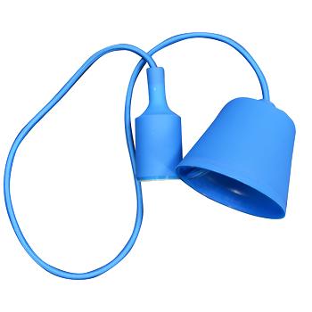 Κρεμαστό Φωτιστικό V-TAC Μπλέ απο Πλαστικό και Σιλικόνη και ντουί Ε27(3476)