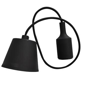 Κρεμαστό Φωτιστικό V-TAC Μαύρο απο Πλαστικό και Σιλικόνη και ντουί Ε27(3478)
