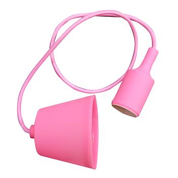 Κρεμαστό Φωτιστικό V-TAC Ρόζ απο Πλαστικό και Σιλικόνη και ντουί Ε27(3479)