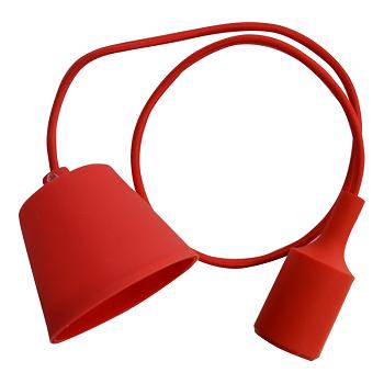 Κρεμαστό Φωτιστικό V-TAC Κόκκινο απο Πλαστικό και Σιλικόνη και ντουί Ε27(3480)