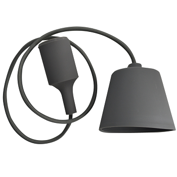 Κρεμαστό Φωτιστικό V-TAC Γκρί απο Πλαστικό και Σιλικόνη και ντουί Ε27(3481)