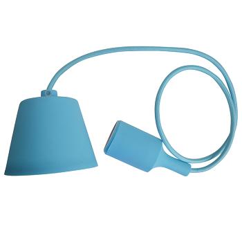 Κρεμαστό Φωτιστικό V-TAC Γαλάζιο απο Πλαστικό και Σιλικόνη και ντουί Ε27(3482)