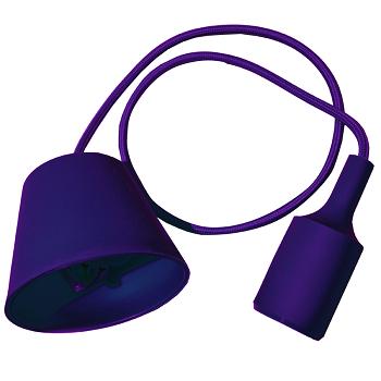 Κρεμαστό Φωτιστικό V-TAC Μώβ απο Πλαστικό και Σιλικόνη και ντουί Ε27(3483)