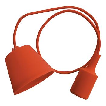 Κρεμαστό Φωτιστικό V-TAC Πορτοκαλί απο Πλαστικό και Σιλικόνη και ντουί Ε27(3484)