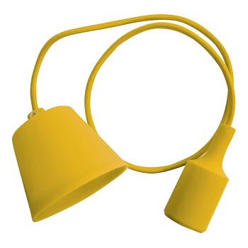 Κρεμαστό Φωτιστικό V-TAC Κίτρινο απο Πλαστικό και Σιλικόνη και ντουί Ε27(3485)