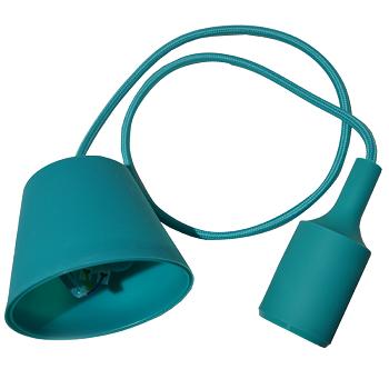 Κρεμαστό Φωτιστικό V-TAC Πράσινο απο Πλαστικό και Σιλικόνη και ντουί Ε27(3486)