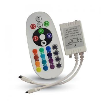 LED RGB V-TAC controller με dimmer υπερύθρων 24 κουμπιά(3625)