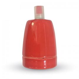 Ντουί Πορσελάνης Ε27 V-TAC Κόκκινο(3799)