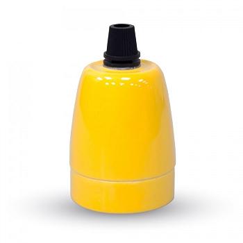Ντουί Πορσελάνης Ε27 V-TAC Κίτρινο(3801)