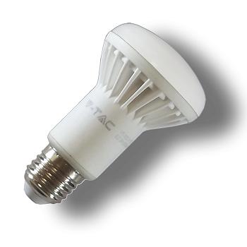 LED V-TAC Λαμπτήρας E27 καθρέπτη 8W (R63) Ψυχρό Λευκό(4244)