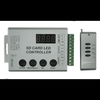 LED Digital Controller DMX512 SD CARD για LED Digital Strip RGB(88768)