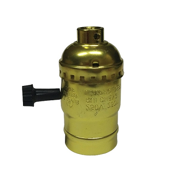 E27 Ντουί Αλουμινίου Φωτιστικού Χρυσό Μεταλλικό(90016)