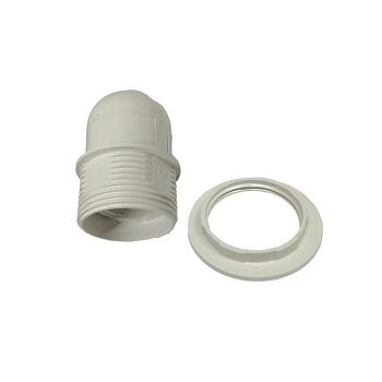 ΣΕΤ Ντουί E27 με Ροδέλα Πλαστικό Λευκό(90018)