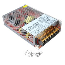 Τροφοδοτικό για LED 60 W 5Α 12V DC μεταλλικό AC6105