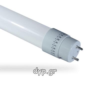 Λάμπα LED τύπου φθορισμού T8 90cm 14W Nano πλαστική περιστρεφόμενη Φώς Ημέρας(6272)