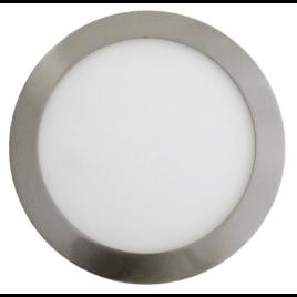 LED mini Πάνελ V-TAC 6W στρογγυλό Νίκελ Σατινέ Ψυχρό Λευκό(6339)