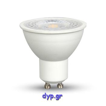 LED Spot VTAC GU10 Lens 8watt Πλαστικό 38° Ψυχρό Λευκό 6400Κ(1695)