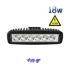 Μπάρα Φωτισμού LED 18 Watt 10-30 Volt DC Ψυχρό Λευκό(29998)
