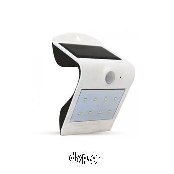 Ηλιακό Φωτιστικό LED V-TAC 1.5W με Αισθητήρα Solar Wall Light 4000K+4000K White+Black Body(8276)