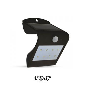 Ηλιακό Φωτιστικό LED V-TAC 1.5W με Αισθητήρα Solar Wall Light 4000K+3000K Black+Black Body(7097)