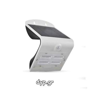 Ηλιακό Φωτιστικό LED V-TAC 3W με Αισθητήρα Solar Wall Light 4000K+3000K White+Black Body(7523)
