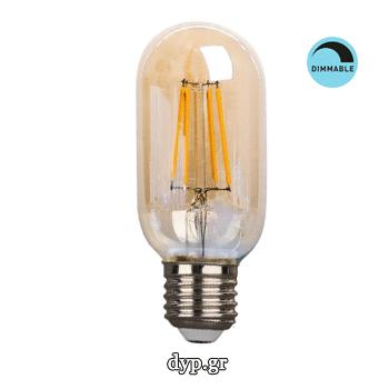 LED Edison Filament Retro Μελί E27 4w T45 Θερμό Dim(44019)