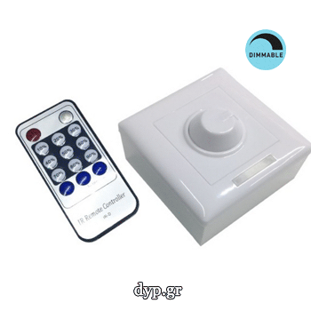 Dimmer Τοίχου για LED 12-24 Volt με IR Control(77406)