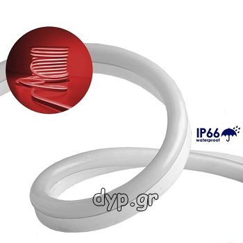 LED NEON FLEX 230V Κόκκινο IP66 Dimmable(22503)