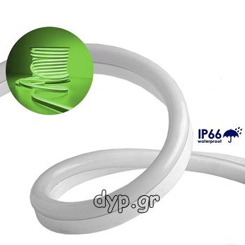 LED NEON FLEX 230V Πράσινο IP66 Dimmable(22504)