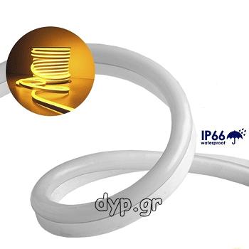 LED NEON FLEX 230V Πορτοκαλί-Χρυσό IP66 Dimmable(22507)
