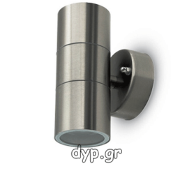 Φωτιστικό Τοίχου Σποτ Διπλό V-TAC Πάνω – Κάτω Ανοξείδωτο με Ντουι 2xGU10 220V(7500)