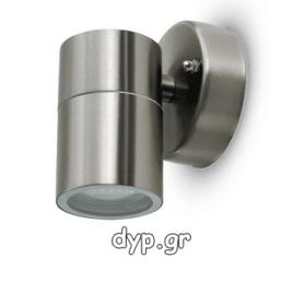Φωτιστικό Τοίχου Σποτ Μονό V-TAC Ανοξείδωτο με Ντουί GU10 220V(7501)