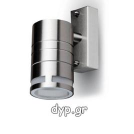 Φωτιστικό Τοίχου Σποτ Μονό V-TAC Ανοξείδωτο Χρώμιο και Γυαλί με Ντουί GU10 220V(7505)