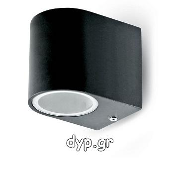 Φωτιστικό Τοίχου Σποτ Μόνο V-TAC Αλουμινίου Μαύρο Στρογγυλό με Ντουί GU10 220V(7508)