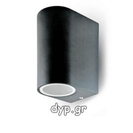 Φωτιστικό Τοίχου Σποτ Διπλό V-TAC Πάνω- Κάτω Αλουμινίου Μαύρο Στρογγυλό με Ντουί 2χGU10 220V(7509)