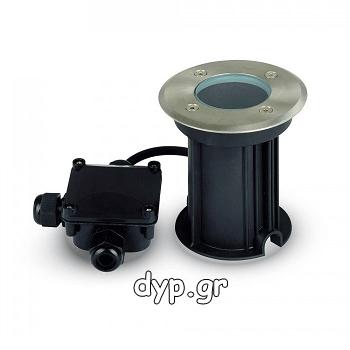 Αδιάβροχο Μεταλλικό Φωτιστικό Δαπέδου V-TAC Στρογγυλό με Ντουι GU10 220V(7515)