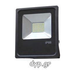 LED Προβολέας 50Watt 220Volt SLIM SMD Πράσινο(FL5428)