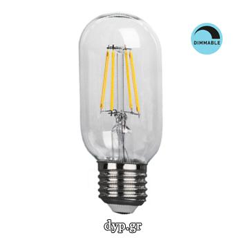 LED Edison Filament Retro E27 4w T45 Θερμό Dim(44017)