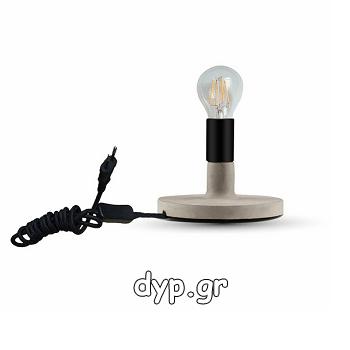 V-TAC Επιτραπέζιο φωτιστικό κηροπήγιο LED Τσιμέντο Γκρι με ντουί Ε27(3852)