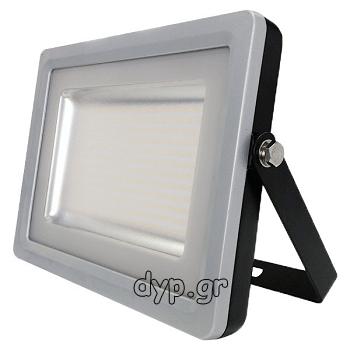 LED Προβολέας V-TAC 300Watt 220Volt Μαύρος-Γκρι SLIM SMD 24000lm Φώς ημέρας(5731)