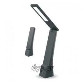 V-TAC Επιτραπέζιο φωτιστικό γραφείου LED 4W Μαύρο με εναλλαγή απόχρωσης φωτισμού(8500)