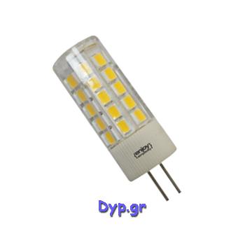 LED G4 5w AC/DC 12V  Θερμό Λευκό (EL104403)
