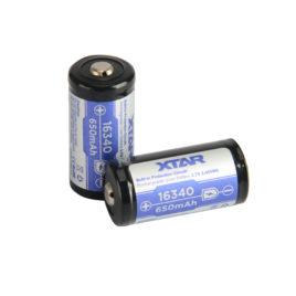 Μπαταρία XTAR 16340 650mAh με προστασία (16340)