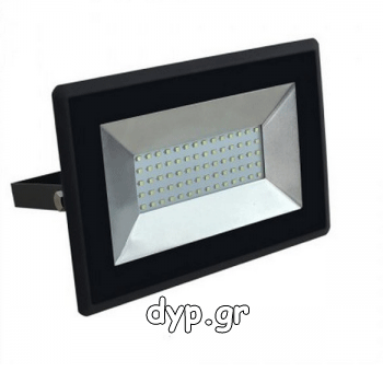 LED Προβολέας E-Series SMD 50W Μαύρος Θερμό Λευκό(5958)