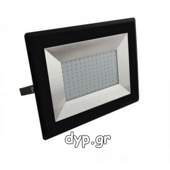 LED Προβολέας E-Series SMD 100W Μαύρος Θερμό Λευκό(5964)