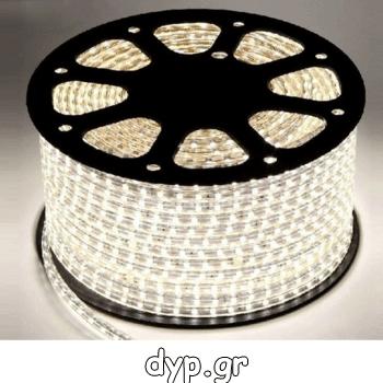 LED Ταινία 230V 9W/m 60L/m 5050 Αδιάβροχη IP65 Dimmable Φως Ημέρας(5050-60 /4-A)