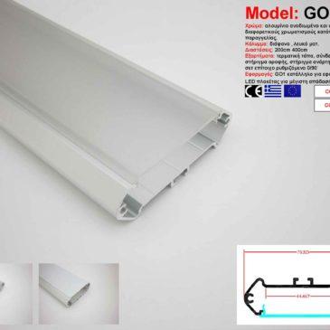 Προφίλ Αλουμινίου δίμετρο για ταινίες LED(GO1)